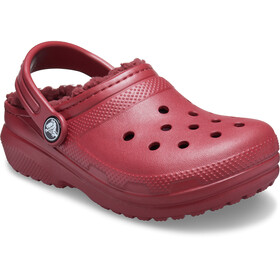 Crocs Classic Lined Clogs Zoccoli Bambino, rosso